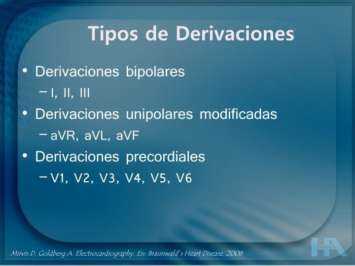 Tipos de Derivaciones