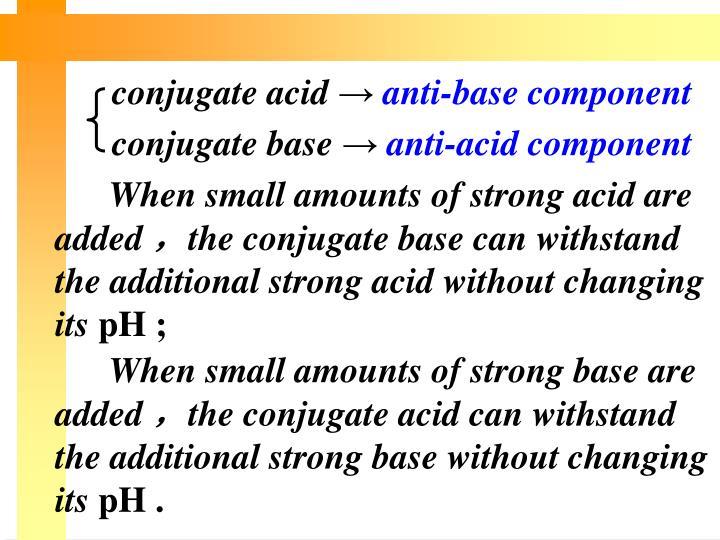 conjugate acid