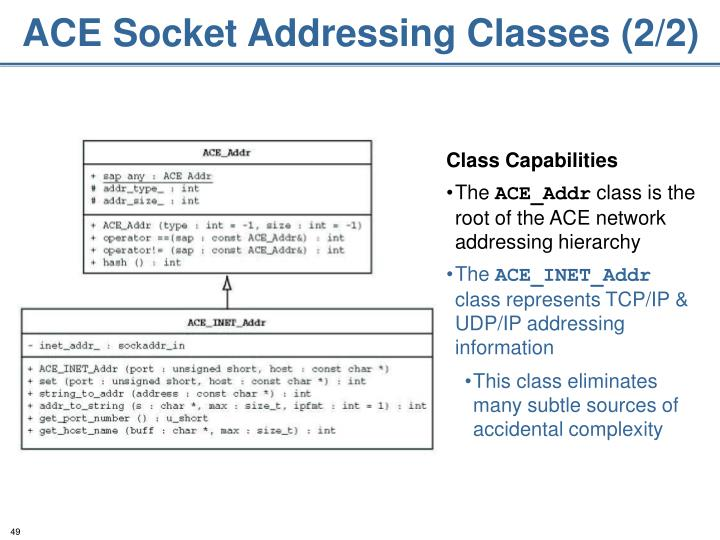 ACE Socket Addressing Classes (2/2)