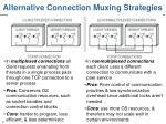 alternative connection muxing strategies