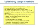 concurrency design dimensions