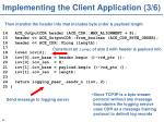 implementing the client application 3 6
