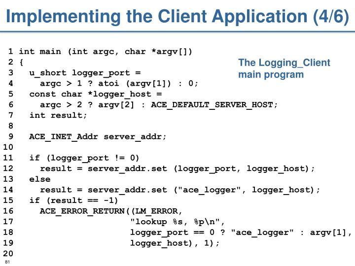 Implementing the Client Application (4/6)