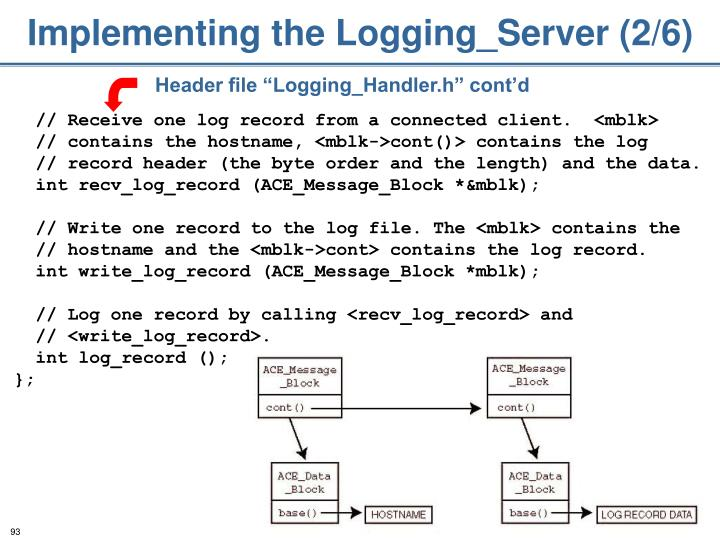 Implementing the Logging_Server (2/6)
