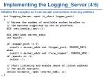 implementing the logging server 4 5