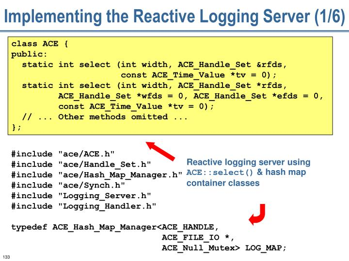 Implementing the Reactive Logging Server (1/6)
