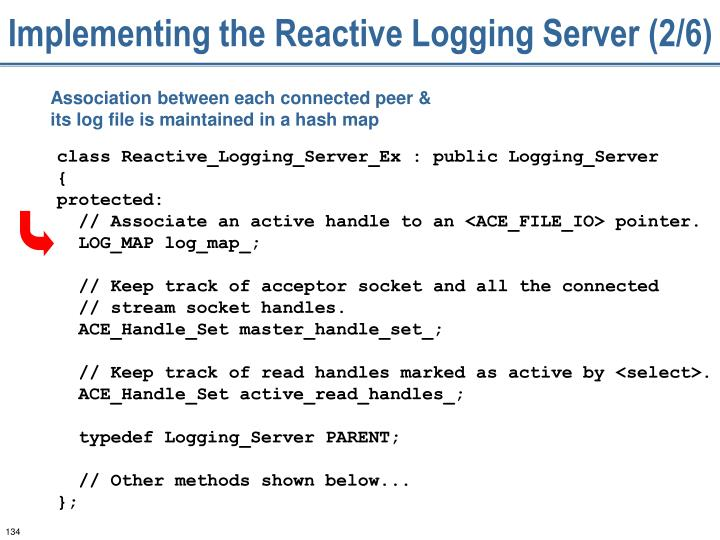 Implementing the Reactive Logging Server (2/6)