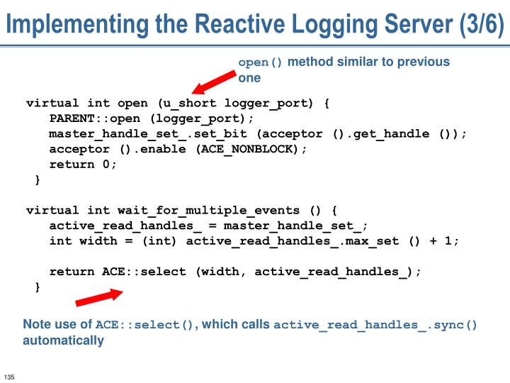 Implementing the Reactive Logging Server (3/6)