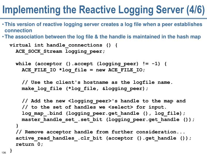 Implementing the Reactive Logging Server (4/6)