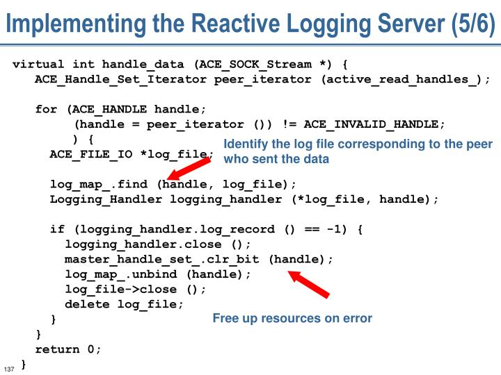 Implementing the Reactive Logging Server (5/6)