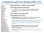 limitations with the socket apis 1 2