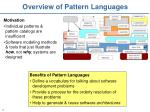 overview of pattern languages