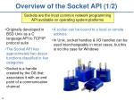 overview of the socket api 1 2