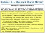 sidebar c objects shared memory