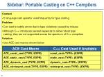 sidebar portable casting on c compilers