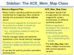 sidebar the ace mem map class