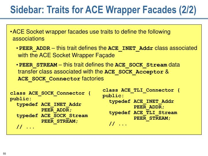 Sidebar: Traits for ACE Wrapper Facades (2/2)