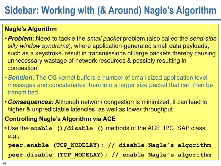 Sidebar: Working with (& Around) Nagle's Algorithm