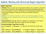 sidebar working with around nagle s algorithm