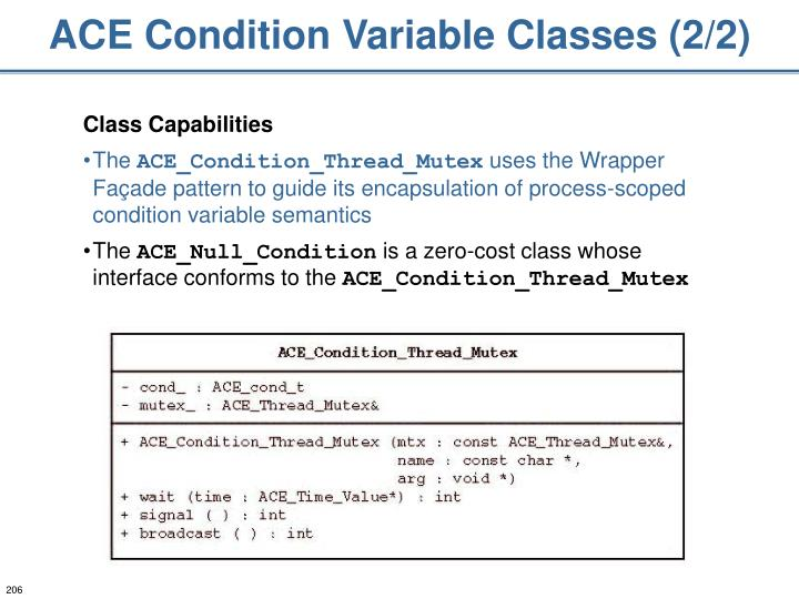 ACE Condition Variable Classes (2/2)