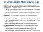 synchronization mechanisms 2 2