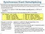 synchronous event demultiplexing