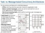 task vs message based concurrency architectures