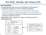 the ace handle set class 2 2