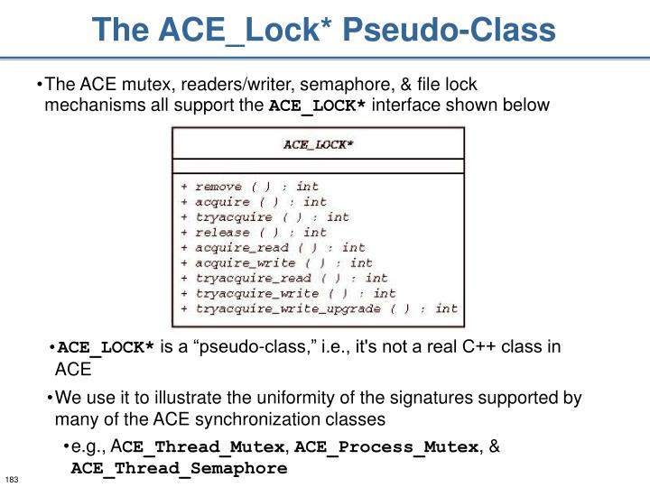 The ACE_Lock* Pseudo-Class
