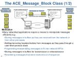 the ace message block class 1 2