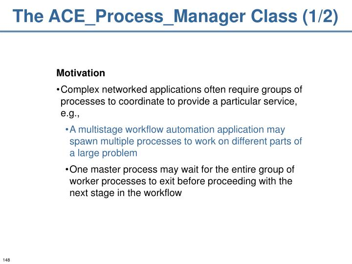 The ACE_Process_Manager Class (1/2)