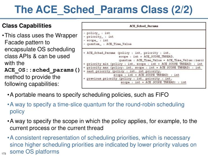 The ACE_Sched_Params Class (2/2)