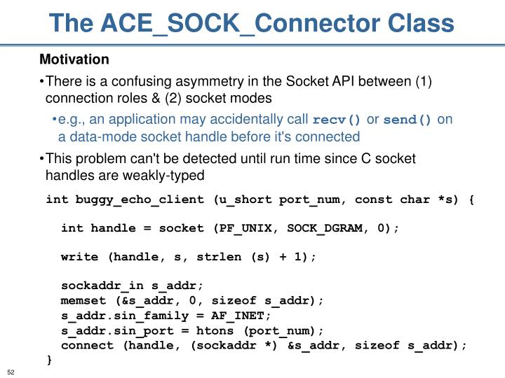 The ACE_SOCK_Connector Class