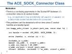 the ace sock connector class