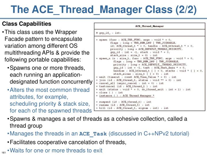 The ACE_Thread_Manager Class (2/2)