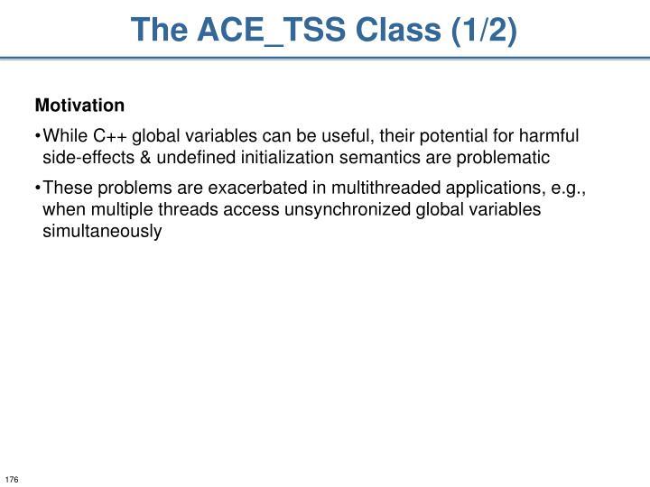 The ACE_TSS Class (1/2)