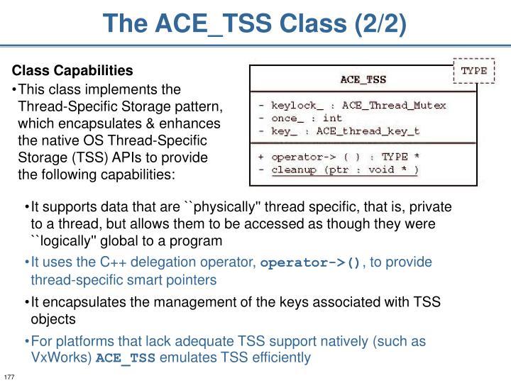 The ACE_TSS Class (2/2)