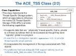 the ace tss class 2 2