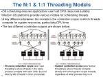 the n 1 1 1 threading models