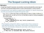 the scoped locking idiom