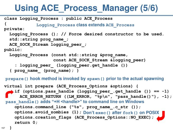 Using ACE_Process_Manager (5/6)