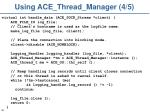 using ace thread manager 4 5