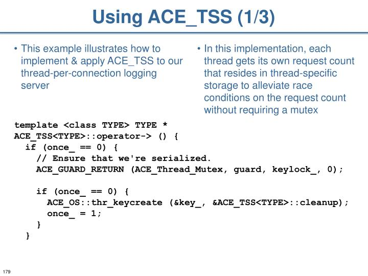 Using ACE_TSS (1/3)