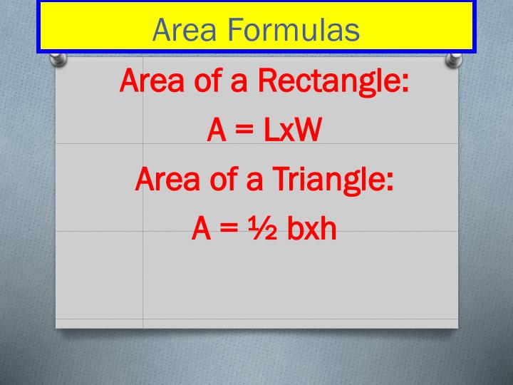 Area of a Rectangle: