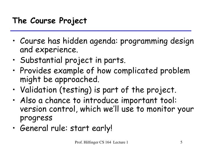The Course Project