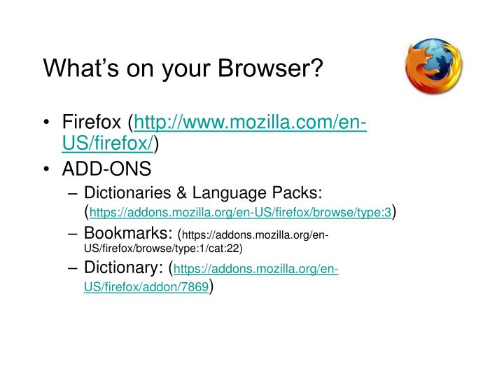 What's on your Browser?