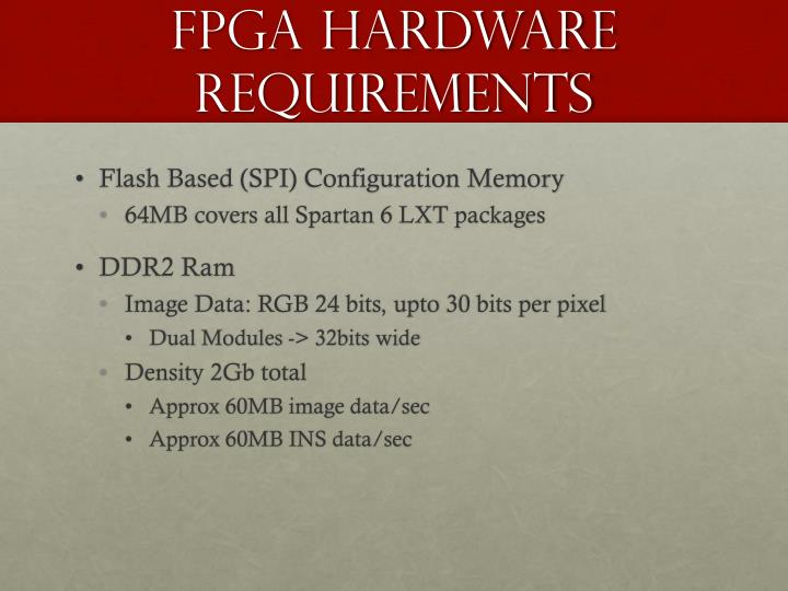 FPGA Hardware Requirements