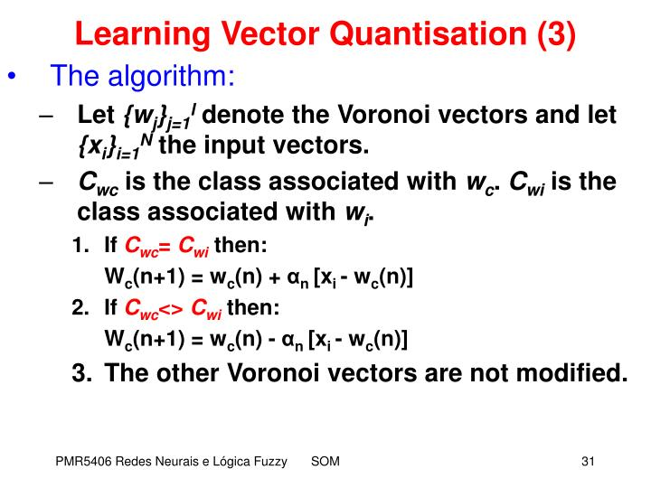 Learning Vector Quantisation (3)