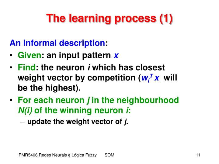The learning process (1)