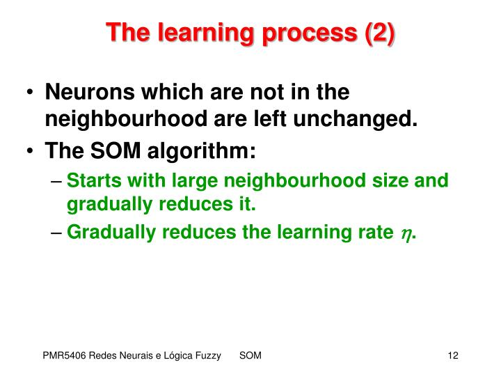 The learning process (2)